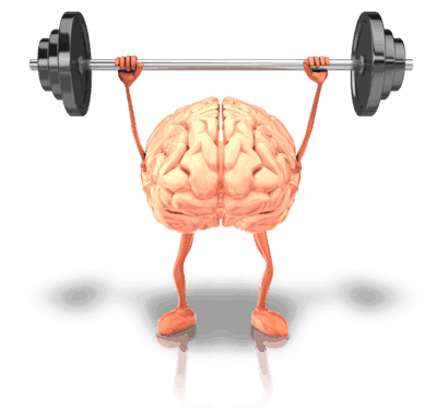 Financial planning brain lifting weights