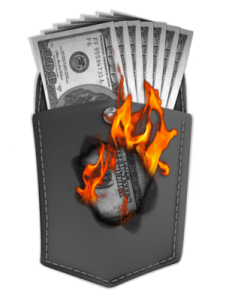 retirement income money_burning_hole