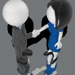 financial advisor trust handshake